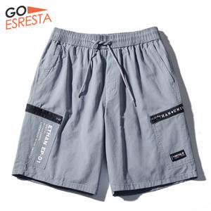 GOESRESTA Summer Casual Men Shorts Cotton Sports Printing Harajuku Style Shorts Loose Breathable Comfortable Cargo Shorts Men X1116