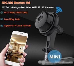زر Q6 1MP HD 720P مصغرة wifi ip كاميرا داخلي الأشعة تحت الحمراء / الرؤية الليلية onvif دعم كشف الحركة