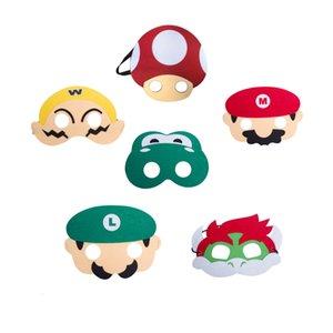 키즈 코스프레 슈퍼 펠트 파티 마스크 Yoshi Luigi Wario Mario 할로윈 크리스마스 의상 무도회 마스크 선물 호의