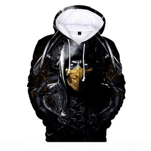 New Fashion 3D Mortal Kombat 11 Hoodie Men women Long-sleeved Hooded Men Streetwear 2019 Loose Hooded Streetwear Tops Hip Hop