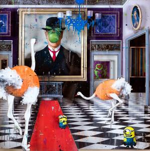 Angelo Accardi Magritte sur le mur Home Décoration Artaccifats / HD Imprimer Huile Peinture sur toile murale Toile Toile 201217