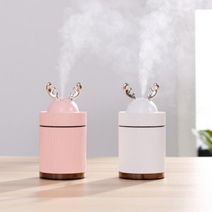Deer Air Humidifier USB Aroma Diffuser with LED Light Mini Electric Essential Oil Diffuser for Office Car Ultrasonic Humidifier