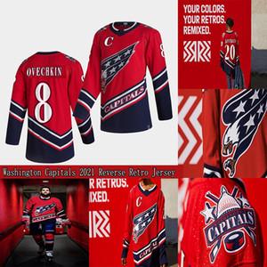 Washington Capitales 2021 Retro Retro Jersey 8 Alex Ovechkin Henrik Lundqvist Nickla Backstrom Tom Wilson Braden Holtby John Carlson