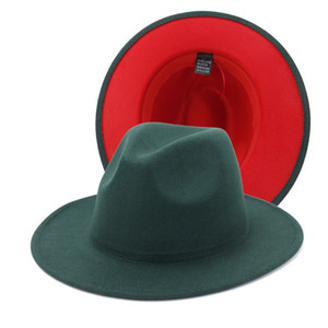 Wide Brim Hats Women Formal Hat Men Jazz Top Hat mens Panama Cap Lady Felt Fedora caps Woman Man Winter Fashion Accessories 2021 NEW