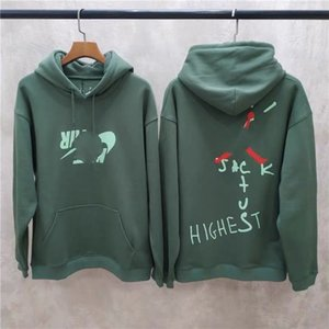 19FW AJ6 Verified Travis Scott co Branded Cactus Jack Ts Luminous Barb Hoodie Pullover