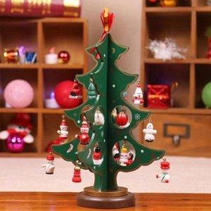 Bois Décoration de Noël Tree Sapin de Noël en bois Production robuste Sens de la mode Nouvel An Création de la famille Halloween