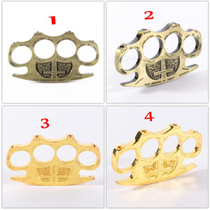 Nuovo ferro dorato in acciaio spessore in acciaio con spolverino con spolverino in lega di alluminio dito tigre a quattro dita anello ad anello ad anello autodifesa