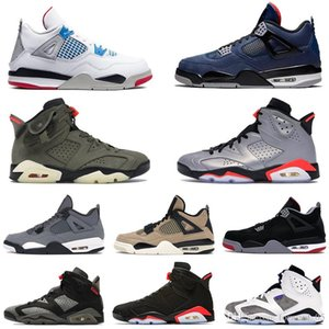2021 2020 Jumpman 4 4s 6 6s men basketball shoes silt red What The fiba bred black infrared reflect silver Paris mens sneakers