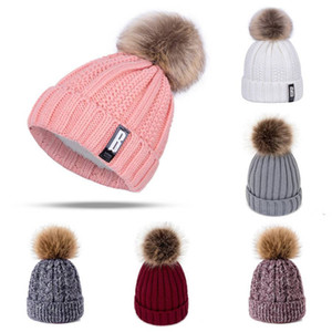 TRUENJOY Hot Sale Women Winter Beanie Hat Thicken Warm Knitted Beanies Female Soft Plus Velvet Skullcap Bonnet Pompom Hats