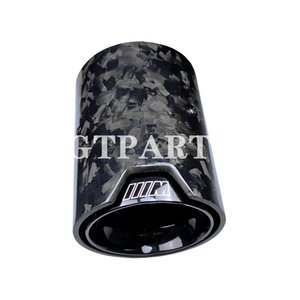 GTPARTS M Performance Forged carbon fiber Exhaust Tip muffler pipe for BMW M2 F87 M3 F80 M4 F82 F83 with black inner pipe