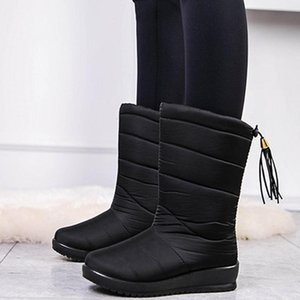 2020 New Fashion Women Snow Boots High Quality Warmly Casual Comfortable Winter Flat Shoes