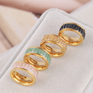 European and American jewelry ice zircon color fashion love ring with diamond for women