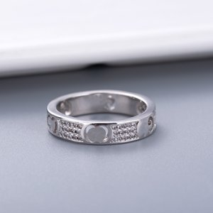 Simple Style Couple Ring Personality for Lover Ring Diamond Fashion Ring High Quality Silver Plated Rings Jewelry Supply