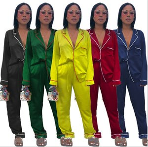Womens long sleeve outfits 2 piece leisure wear set tracksuit shirt legging jogging sportsuit sportswear sweatshirt tights hot klw5625