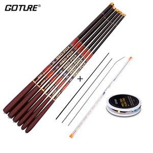 Goture Carbon Fiber Telescopic Fishing Rod Kit 3.0-7.2M Stream Fishing Rod with Spare Tips, Fishing Float Rig Set vara de pesca J1210