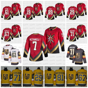 7 Alex Pietrangelo Vegas Golden Knights 2021 Retro Retro Jersey Mark Stone C Capitán Robin Lehner Fleury Smith Pacioretty Reaves Tuch