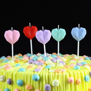 Diamante Love Cumpleaños vela creativa corazón en forma de pastel sin humo vela para el cumpleaños banquete propuesta matrimonio boda fiesta CCA2482