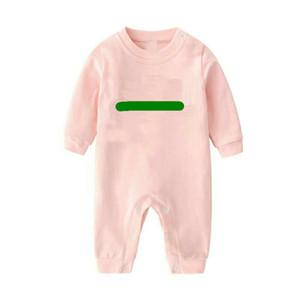INS NEW New Newborn Baby Boys and Girls Rompers Designer Kids Stripes Spon Sumpsuits Infant Girls Letra 100% algodón Romper Marca Ropa para niños