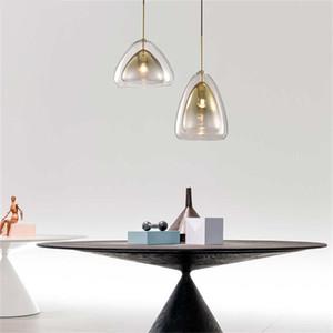 Modern Simple Design Restaurant LED Pendant Lights Dining Room Creativity Glass E27 Hanglamp Bar Kitchen Hanging Lights Fixtures