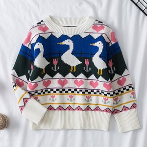 Baby Girl Sweaters Fashion Cartoon Children Sweaters Autumn Winter Girls Sweaters Knit Toddler Kids Pullover Casual Boys Clothes F1203