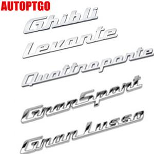 CHROME 3D LETTERS LOGO EMBLEM BADGE DECAL STICKER FOR MASERATI GHIBLI LEVANTE QUATTROPORTE GTS SQ4 Q4 GRANSPORT GRANLUSSO GRILLE TRUNK  HOOD