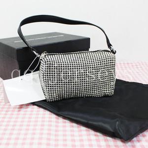 2021 Diseñador de lujo de moda El mismo rey Rhinestones Flash Lleno de Rhinestones Bolsa de mano Subvarm Mini Bag