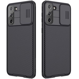 For Samsung S21 S21Plus S21Ultra NILLKIN Black Mirror Pro Series Camshield Full Coverage Dust-proof Scratch Resistant Mobile Phone Case
