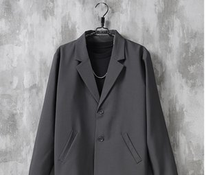 2020 new loose suit top men's Hong Kong style retro Korean Blazer