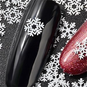 Ultrathin Nail Stickers Sequins White Snowflake Series Supplies Manicure Ornaments Fashion Decals Christmas Decorations Hot Sale 2 8mz K2