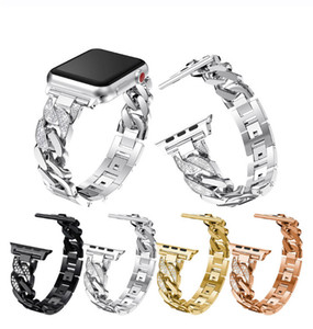 Fashion Diamond Bracelet Stainless Steel Bands for Apple Watch Series 1 2 3 4 5 6 SE Metal Strap for Iwatch 38 40 42 44mm Band