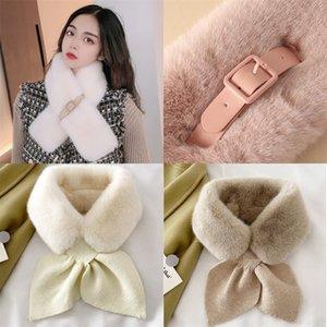Lenços de colarinho peludo envolve imitação rex coelho pele morna pele macia vestiário mulheres outono inverno bib lenço venda quente moda 10 5YY m2
