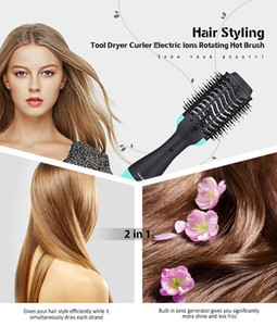 Hot Selling One Step Hair Dryer Brush and Blow straightener and curler salon 3 in 1 roller Electric Hot Air Curling Iron comb