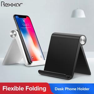 Soporte de teléfono rexxar Soporte para teléfonos inteligentes móviles Soporte de tableta para el escritorio del teléfono Titular de teléfono celular soporte portátil soporte móvil