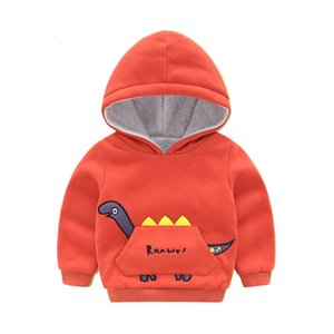 Hooded wear boys' Sweater autumn and winter thickened warm Hoodie Korean Children's Pullover