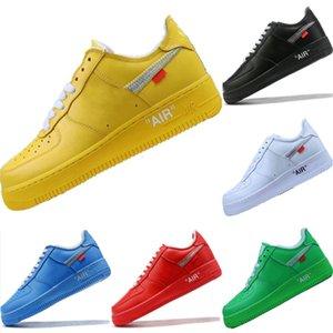 Горячая коробка 2020 с AF1 старинные кожаные кожаные скейтборд обувь на скейтборде Оригинальные AF1 буферной резиновой резиновой составляющей in Zoom Air Cashioning спортивная обувь