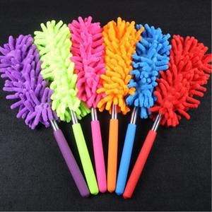 Flexible plumeros polvo removedor portátil extensible mango largo cepillo de limpieza de limpieza plumero para el hogar del dormitorio de limpieza de coche Herramientas BWB3052