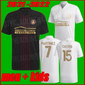 الرجال + أطفال 2021 2022 mls أتلانتا يونايتد FC لكرة القدم جيرسي البيت بعيدا 21 22 G.Martinez مارتينيز ناجبي بركو فيلالبا قمصان كرة القدم