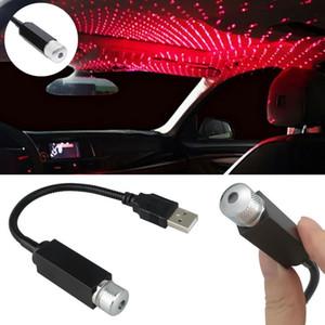 조정 가능한 미니 LED 자동차 루프 스타 야간 조명 프로젝터 라이트 인테리어 주변 분위기 갤럭시 램프 장식 조명 USB 플러그