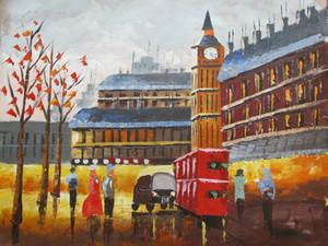 Londres grande paisagem urbana contemporânea decoração handpainted HD Pintura a óleo na tela da tela da lona Imagens de lona, F2101022