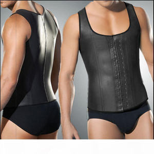 Faja Hombre Latex Waist Trainer For Men 4xl 5xl Plus Size Body Girdles Men Steel Boned Mens Waist Shaper Corset Under Wear Vest