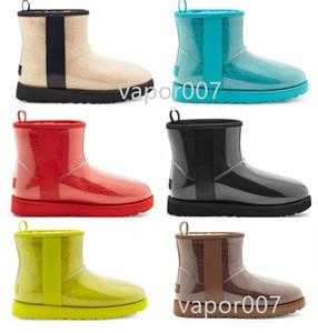 2021 Avustralya Tasarımcısı Klasik Temizle Yün Kaşmir Kadınlar 20 Kısa II Üçlü Avustralya Bayan Boot Kış Kar Botları Mini Kürklü 35-44