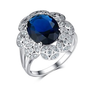 stock clearance wholesale silver jewelry ottoman rings 925 sterling silver romantic sapphire ring 2020 christmas season