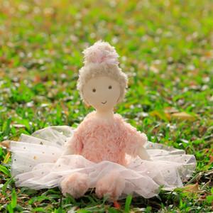 Frete Grátis Luxo Rosa Ballet Girl Dolly Adorável Bebê Aplique a AppEase Brinquedos Handmade Ballerina Rosa Princesa Menina Rag Boneca Q0113