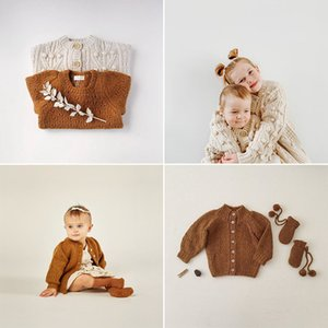 EnkeliBB Rylee and Cru Kids Winter Knitted Coats Lovely Style Toddler Boys Girls Pop Cprn Cardigan Baby Warm Coats For Baby Y1113