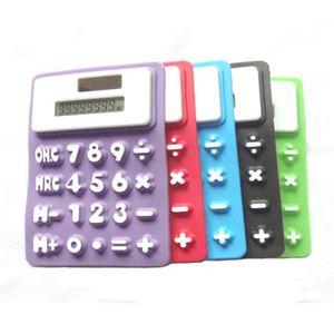 Mini Calculatrice de silicone pliable Calculator Solar Energie Creative Student Student Student Calculadora Outil de bureau de l'école DDF4510