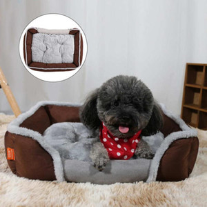 Pet Sofa Bed Universal Soft Dog Bed Pet Kennel Square Sleeping Cushion Cat House Warm Sofa Basket For Small Medium Large
