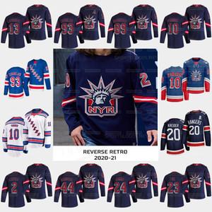 13 Alexis Lafreniere New York Rangers 2021 Retro Retro Liberty Artemi Panarin Kaapo Kakko Pavel Buchnevich Mika Zibanejad Jacob Jersey