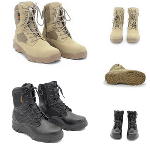 Non-Brand Men Cowhide suede delta tactical military boot outdoor high-top desert combat boots mens shoes 39-46