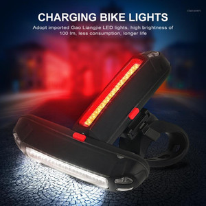Bike Lights Bicycle Light Waterproof Rear Tail LED USB Rechargeable Mountain Cycling Taillamp Safety Warning1