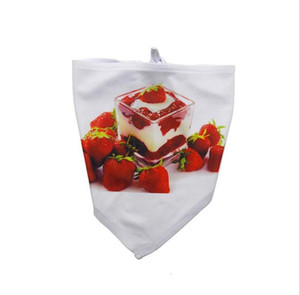 DIY Pet Burp Cloth sublimation blanks White Triangle Neck Scarf Dog Supplies Digital Printing Bandana Fashion Bardian Hot Sale 7722